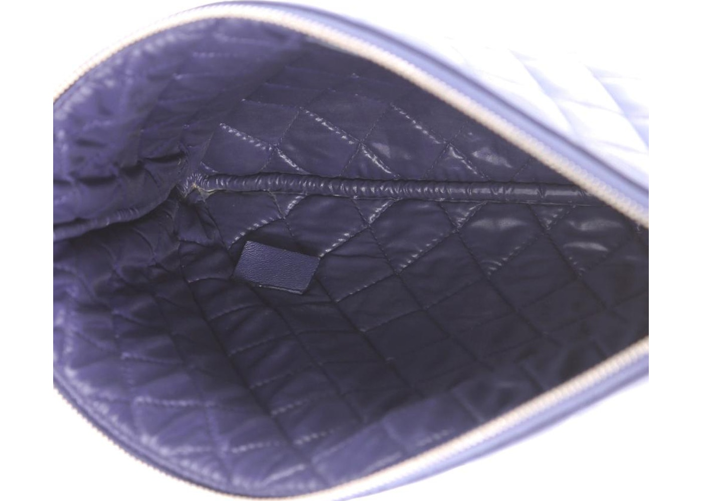 4a1414273093 Chanel O Case Clutch Quilted Diamond Medium Royal Blue