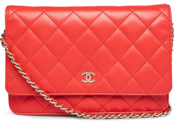 10a376f7a18f3c Chanel Wallet On Chain Clutch Quilted Diamond Red