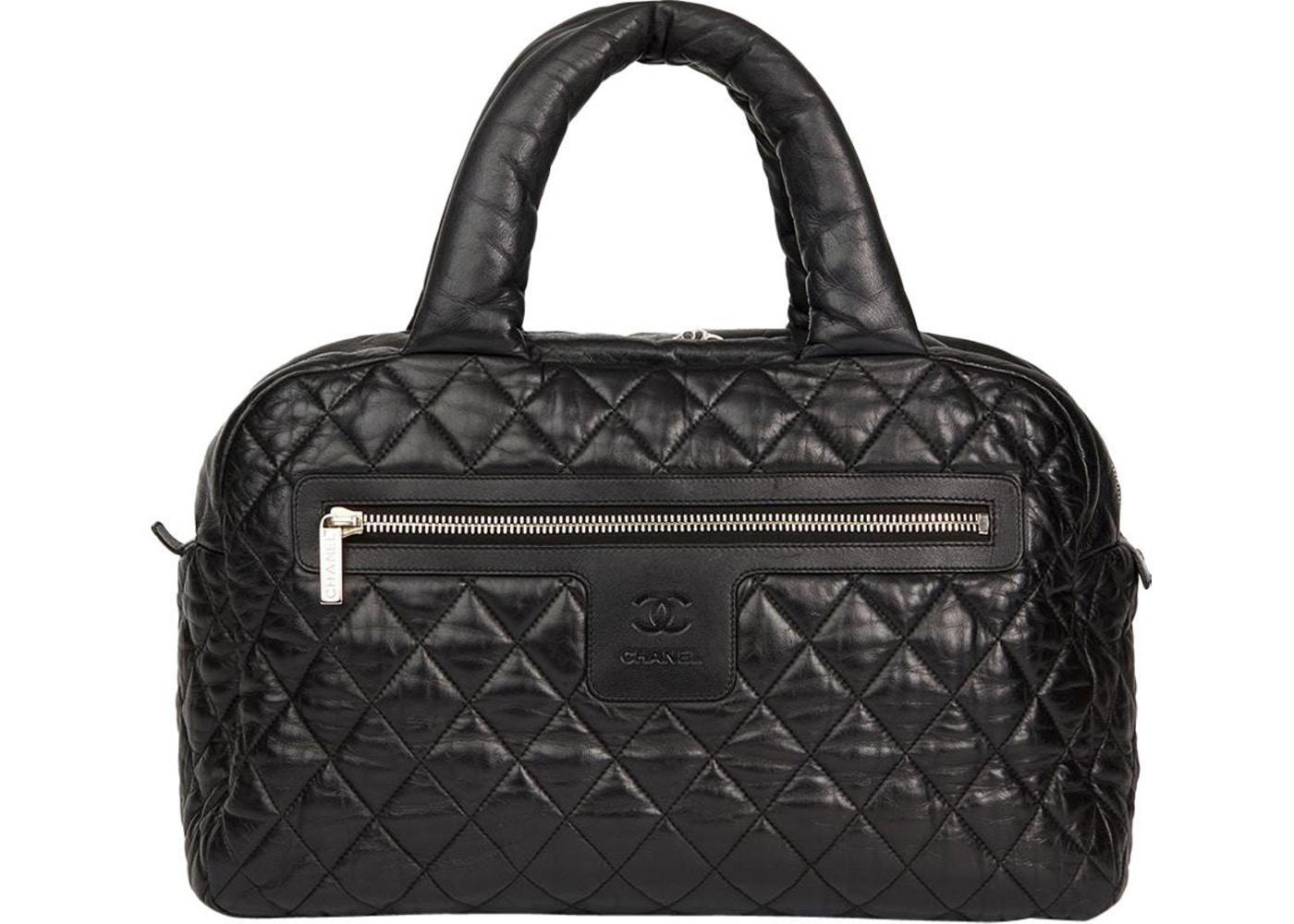 9df2677080ca Chanel Coco Cocoon Bowling Bag Quilted Lambskin Black. Quilted Lambskin  Black