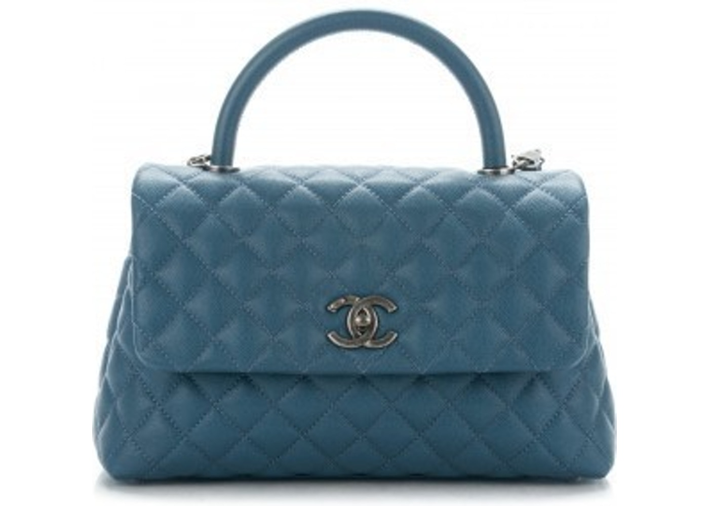 703e0dcc1586 Chanel Coco Handle Bag Quilted Small Blue. Quilted Small Blue