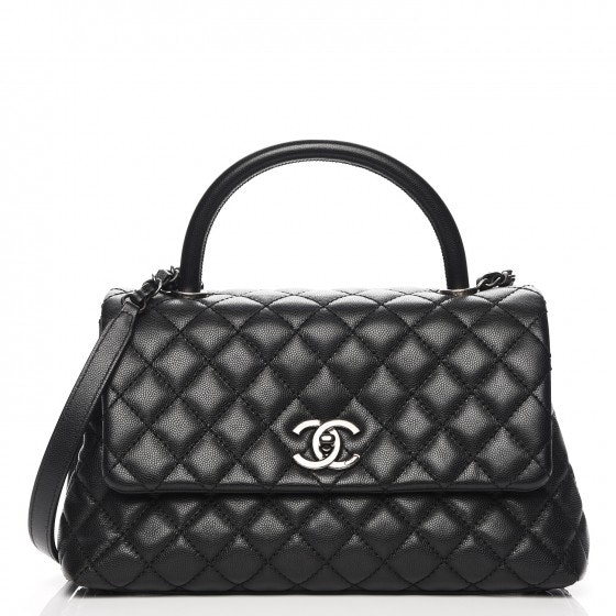Chanel Coco Handle Flap Quilted Grained Small