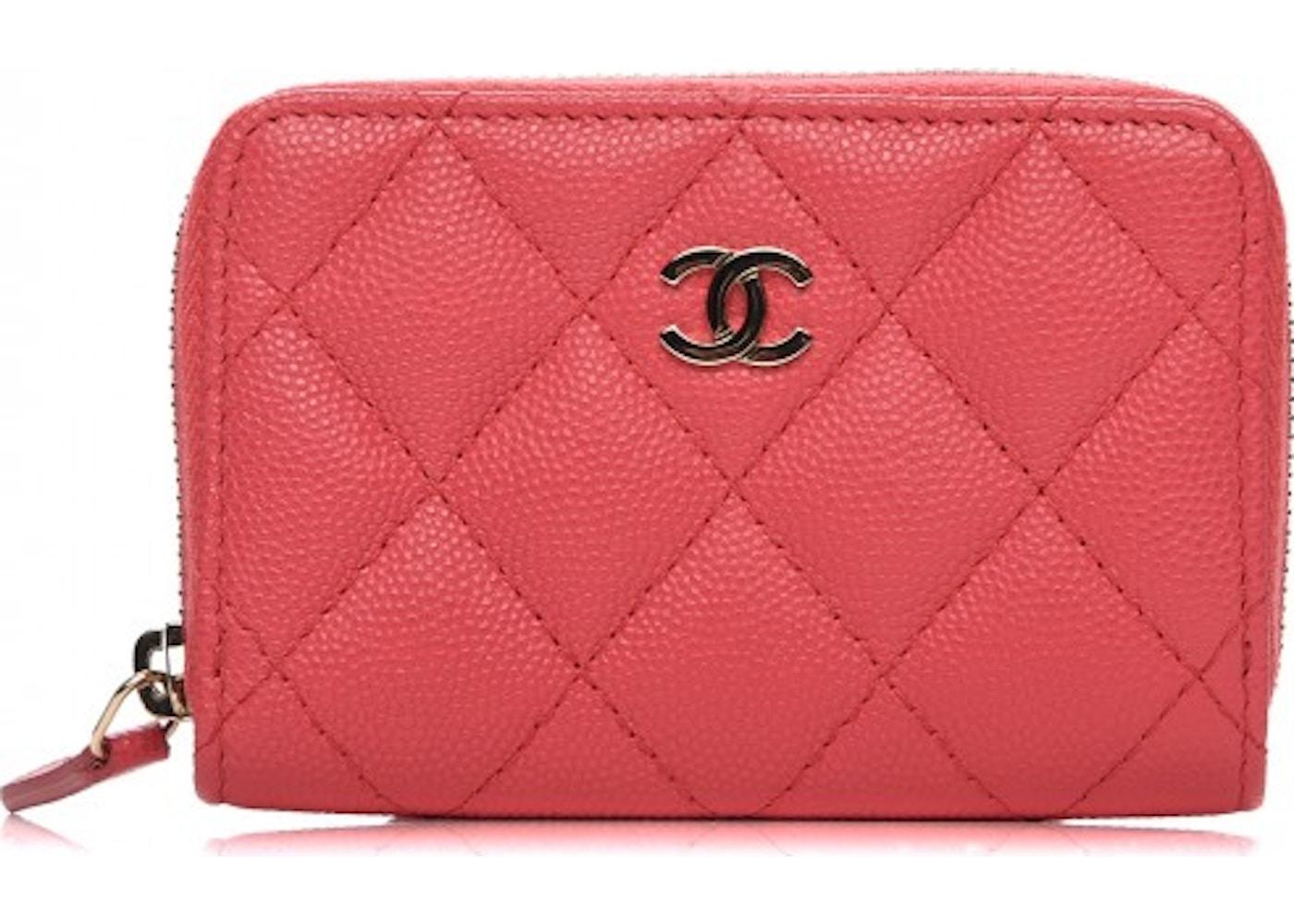 dd4085218793 Chanel Zip Around Coin Purse Diamond Quilted Dark Pink. Diamond Quilted Dark  Pink