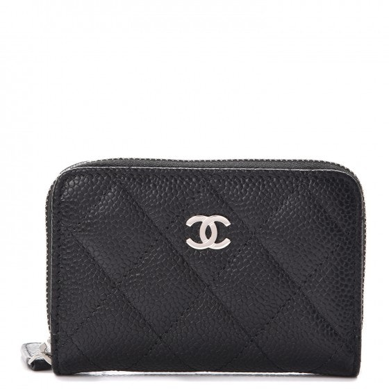 Chanel Zip Coin Purse Quilted