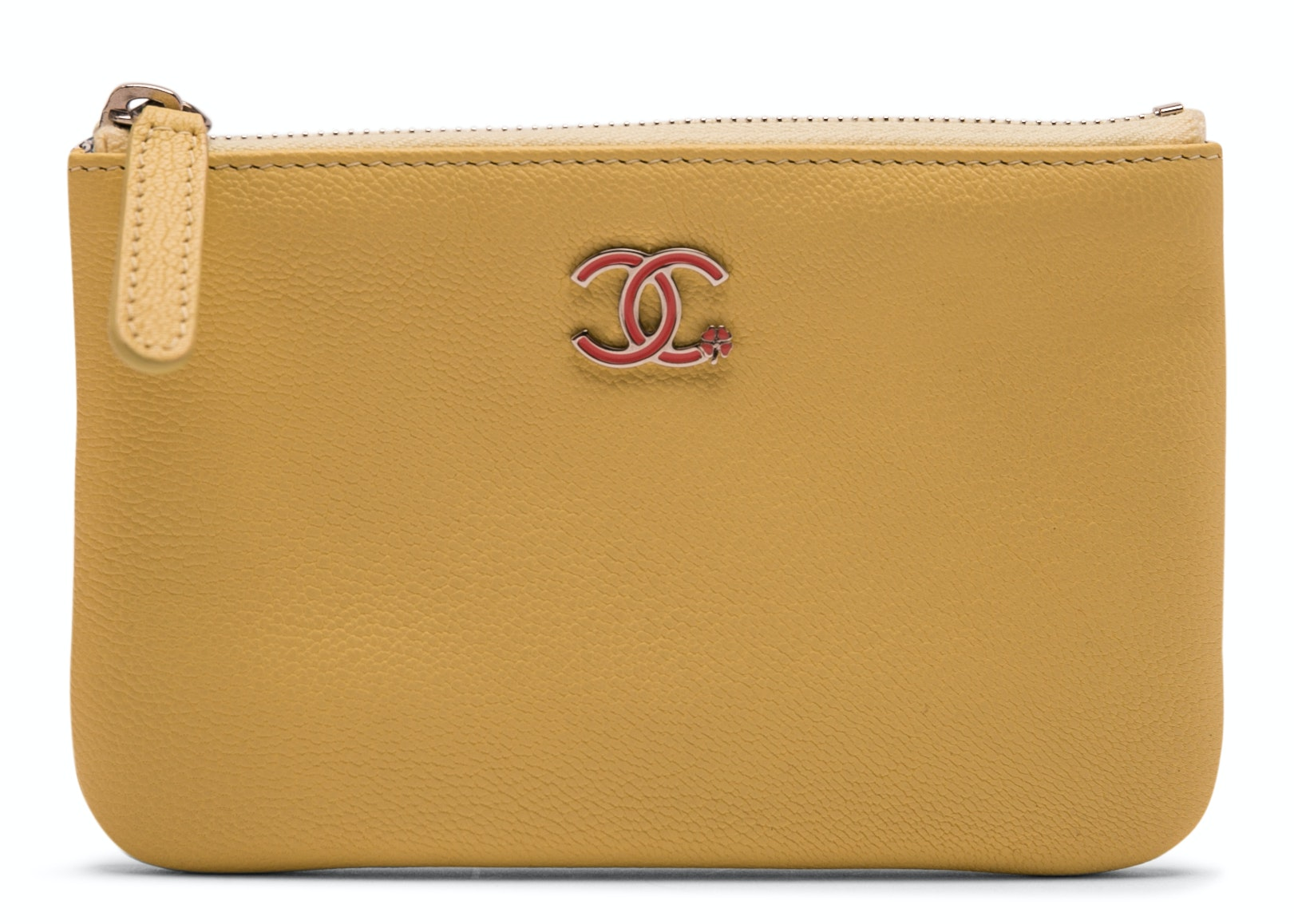 Chanel Cosmetic Case CC Clover Small Yellow