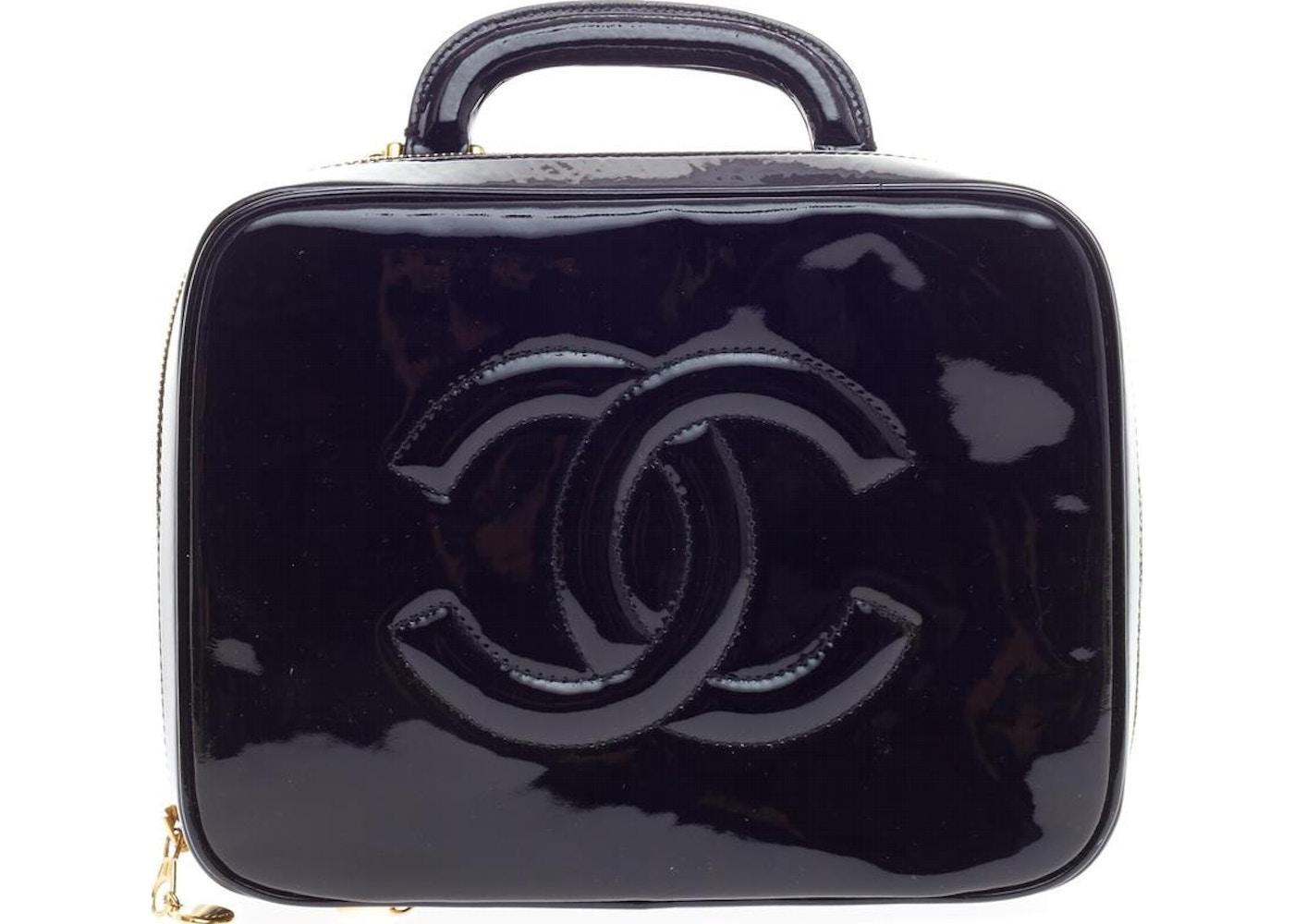 383870b0931 Chanel CC Strap Cosmetic Case Black. Black
