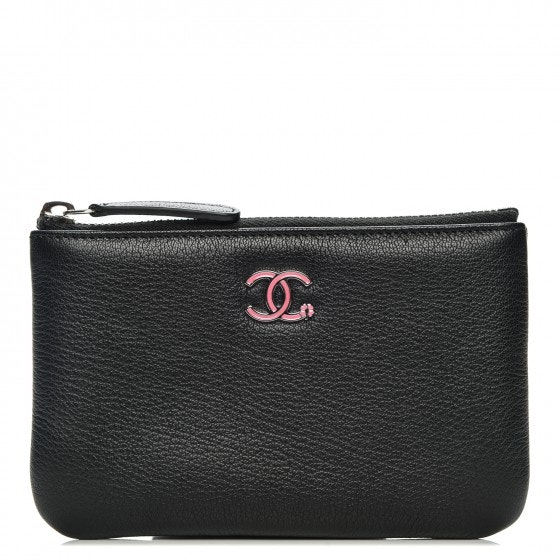Chanel Cosmetic Case Quilted Small Black
