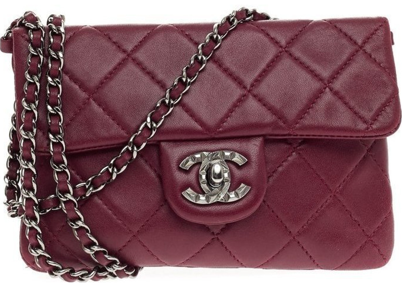 b1168919ecdf81 Chanel Crossbody Flap Mineral nights Quilted Mini Burgundy