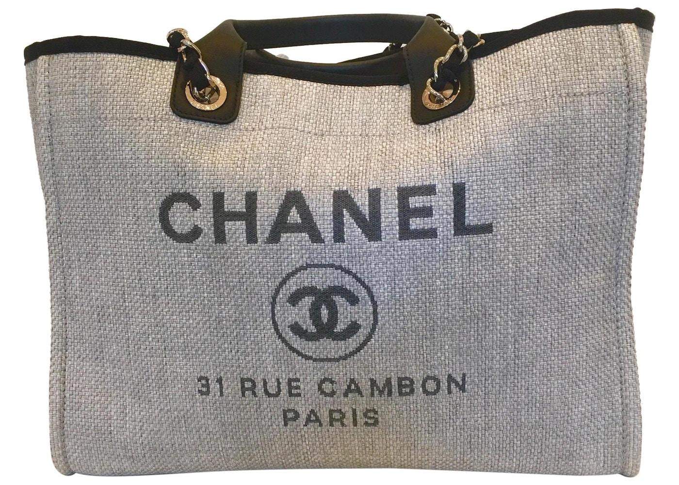 13b2cbefa6af Chanel Deauville Tote Grey. Grey