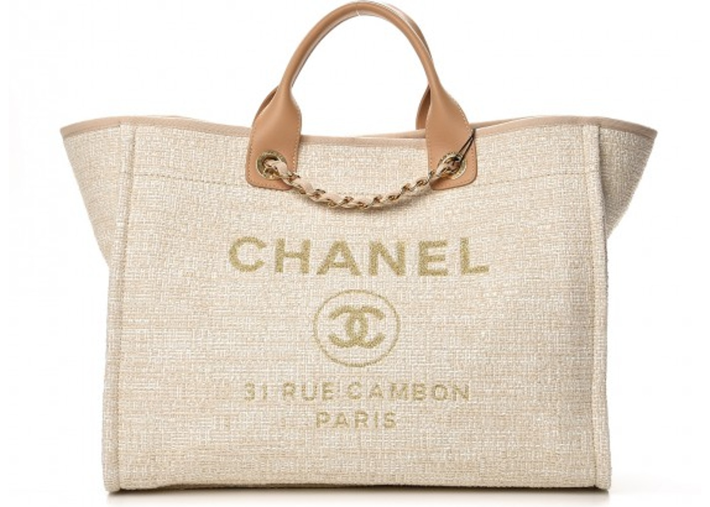 fa0dd7af7796 Chanel Deauville Tote Large Light Beige. Large Light Beige