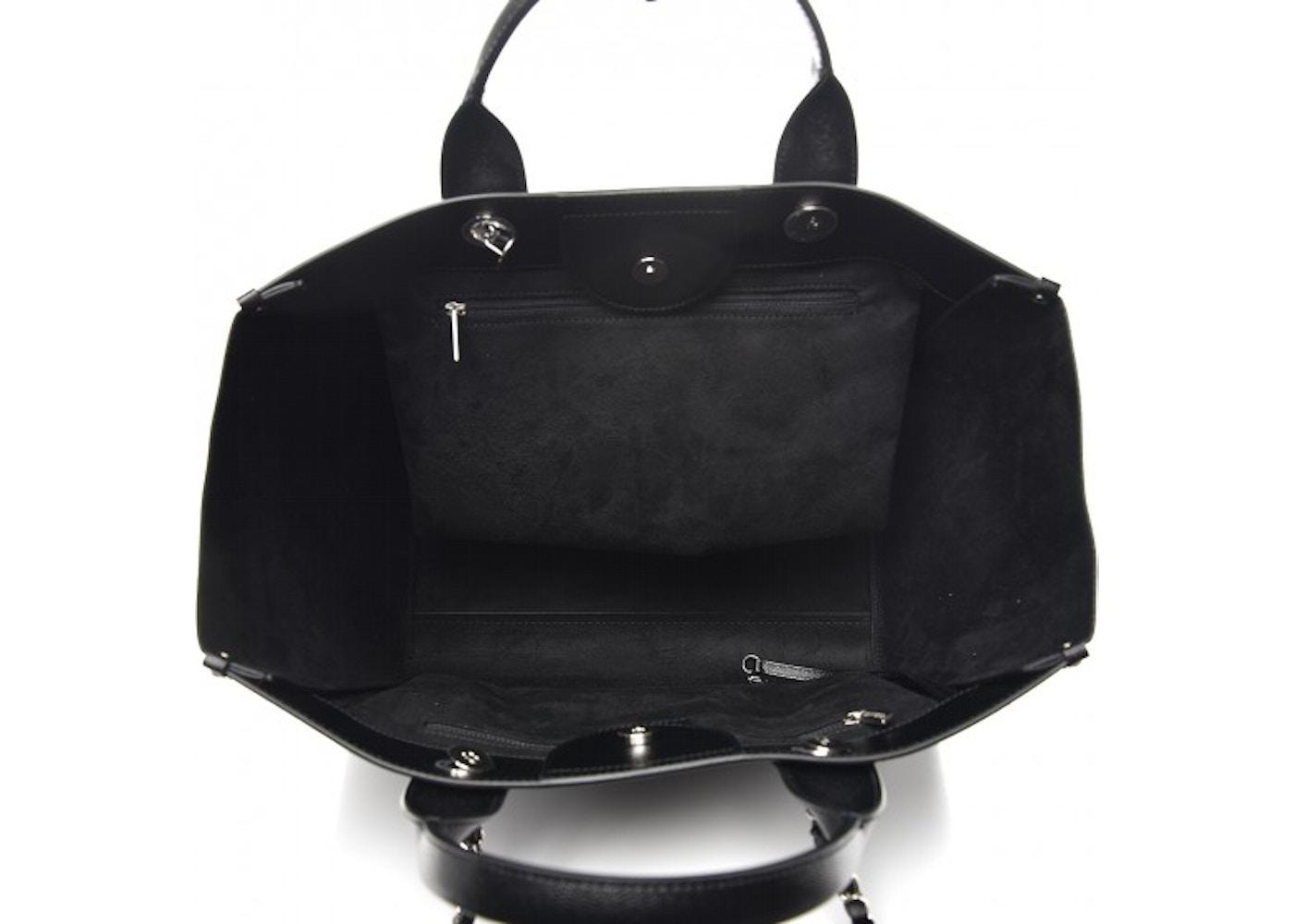 41802f2b5bb1 Chanel Deauville Tote Studded Medium Black