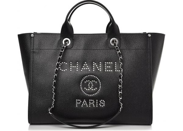 e026fd694ac5 Chanel Deauville Tote Studded Medium Black