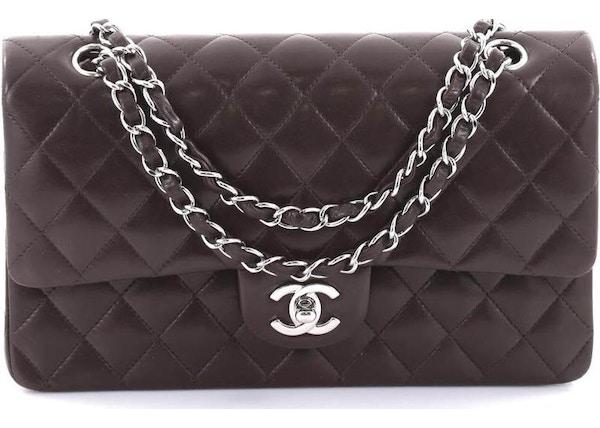 b2b226cdfb6f Chanel Double Flap Diamond Quilted Medium Dark Brown