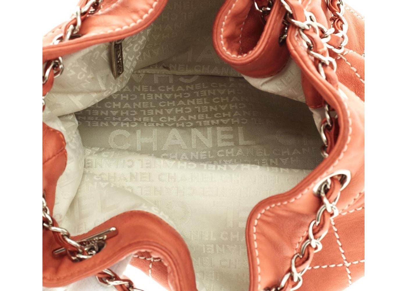 f10c51380fbd Chanel Surpique Stitch Drawstring Bucket Quilted Diamond Salmon Pink