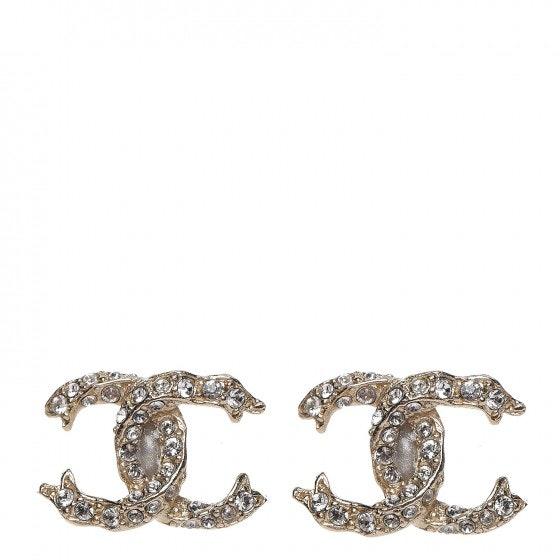 Chanel CC Earrings Crystal