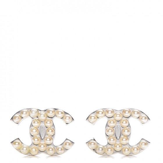 Chanel CC Earrings Pearl