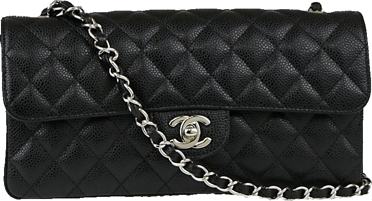 Chanel East West Classic Single Flap Quilted Black