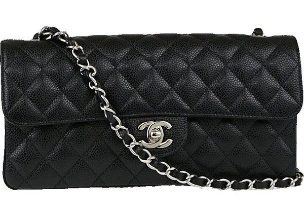 bf66fa9176c3 Chanel East West Classic Single Flap Quilted Black