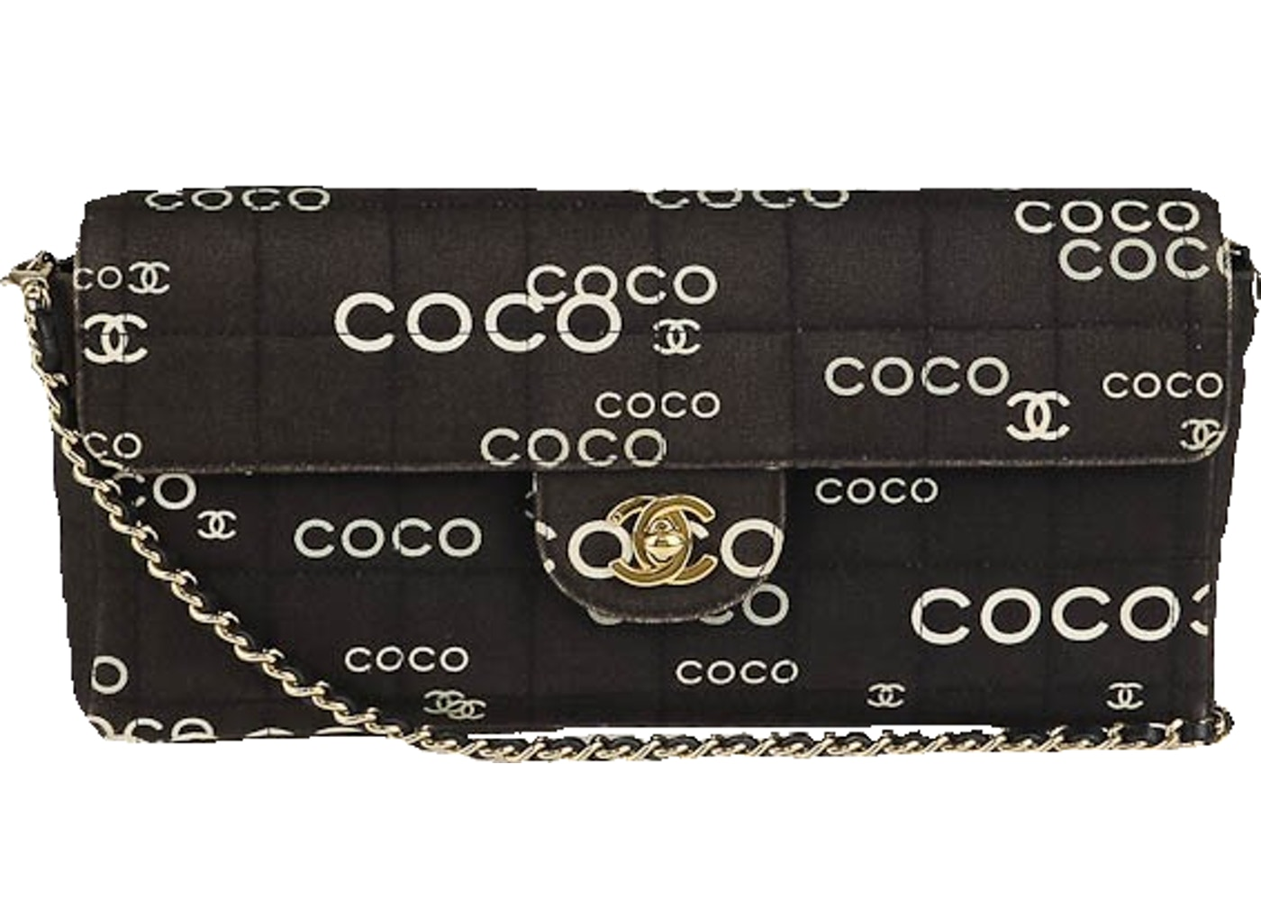 fe35cc90dbd4 Sell. or Ask. View All Bids. Chanel East West Flap Coco Chanel Quilted Black /White