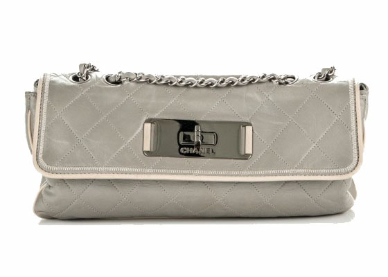 Chanel East West Flap Mademoiselle Quilted Gray