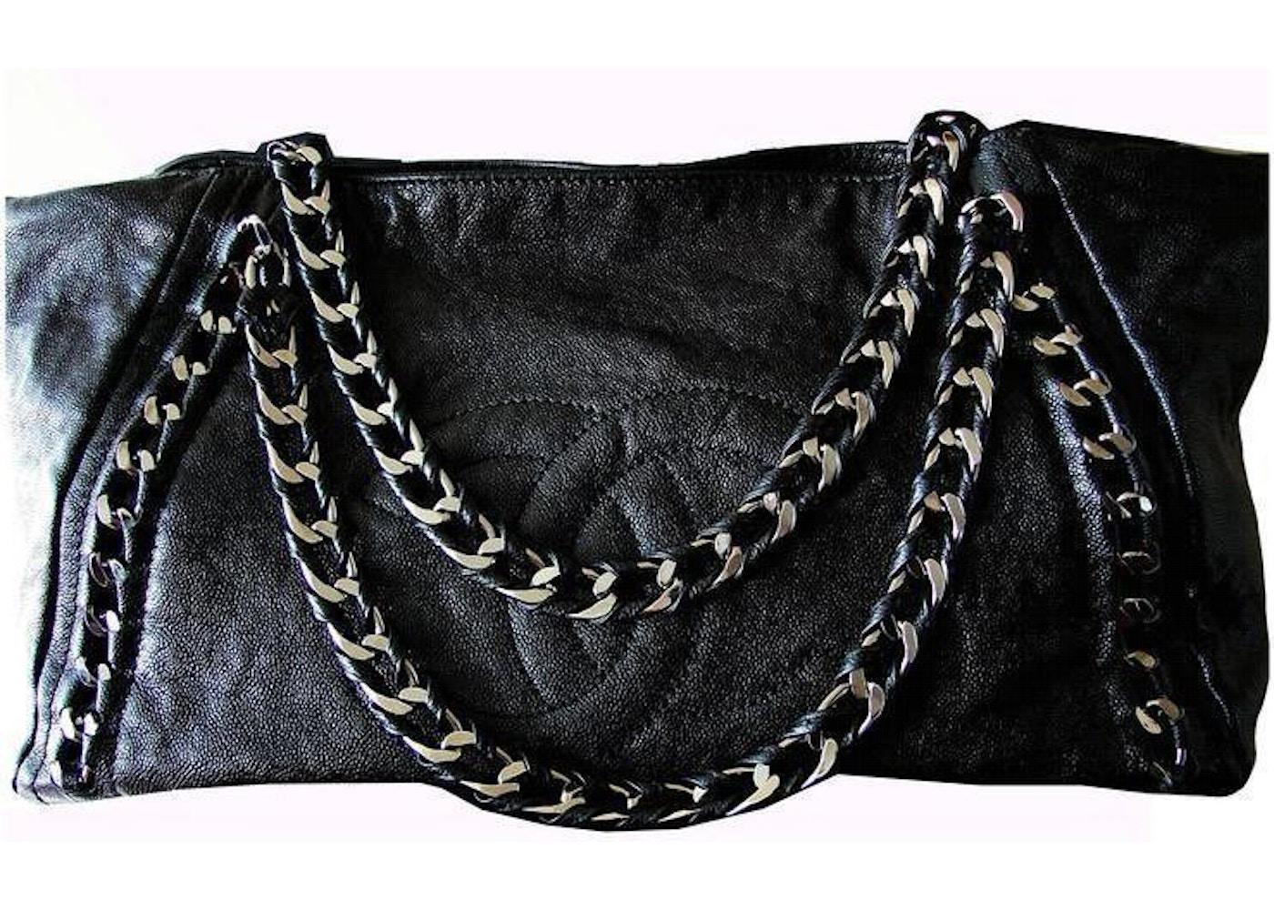 3050d5305f98 Chanel East West Tote Modern Chain Glazed XL Black