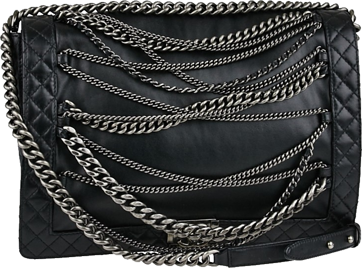 Chanel Enchained Boy Flap Large Black