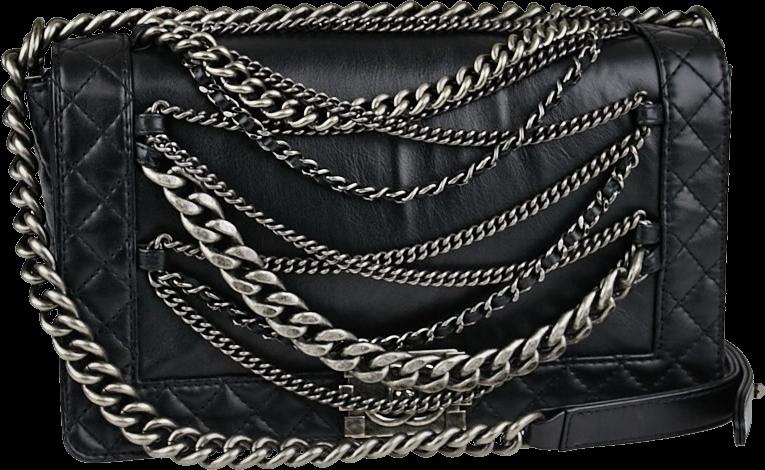 Chanel Enchained Boy Flap Medium Black