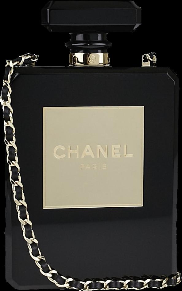 Chanel Evening Bag No. 5 Perfume Bottle Black