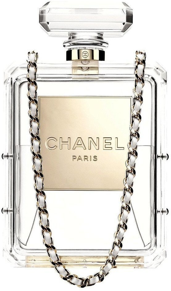 Chanel Evening Bag No. 5 Perfume Bottle Clear