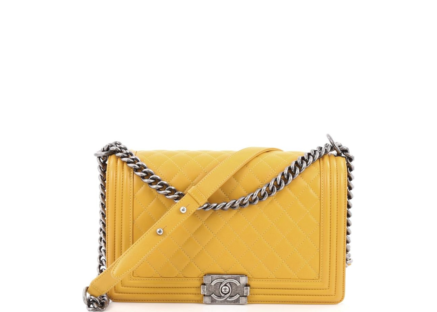 4d79f799a30689 Chanel Boy Flap Bag Quilted Diamond New Medium Mustard Yellow. Quilted  Diamond New Medium Mustard Yellow