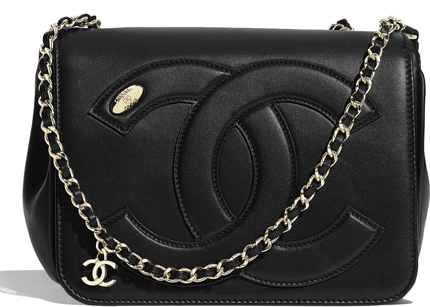 1ab693ef06e675 Chanel Flap Bag Lambskin Gold-tone Black. Lambskin Gold-tone Black