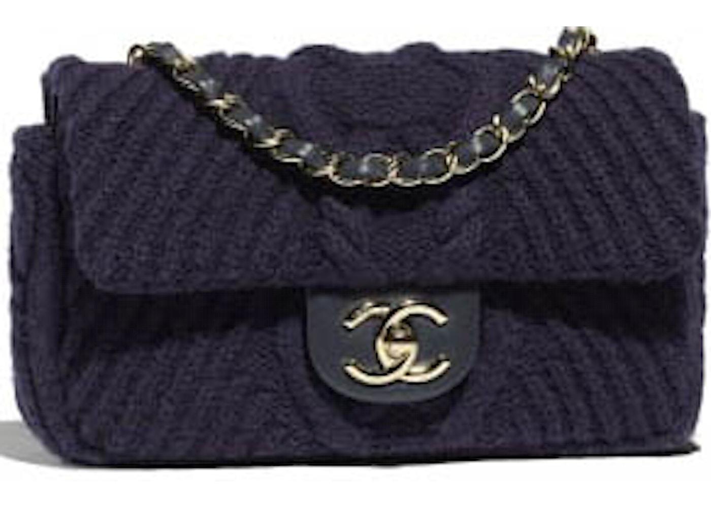 28622a1a732f Chanel Flap Bag Knit Navy. Knit Navy