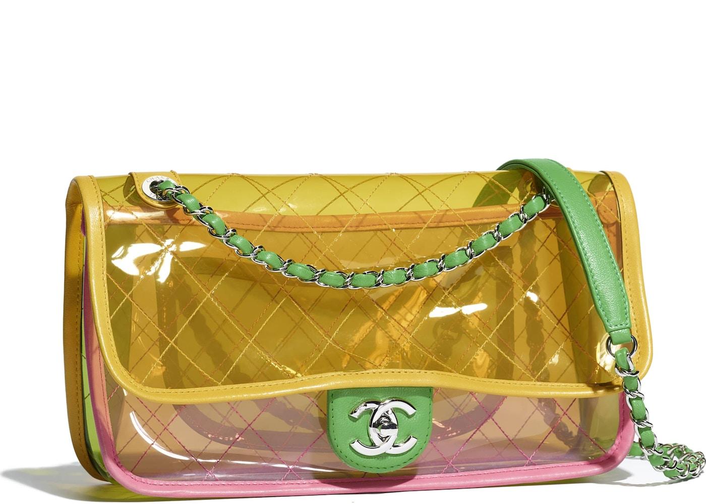 cf257cc82098 Chanel Flap Bag Transparent Pink Yellow. Transparent Pink Yellow