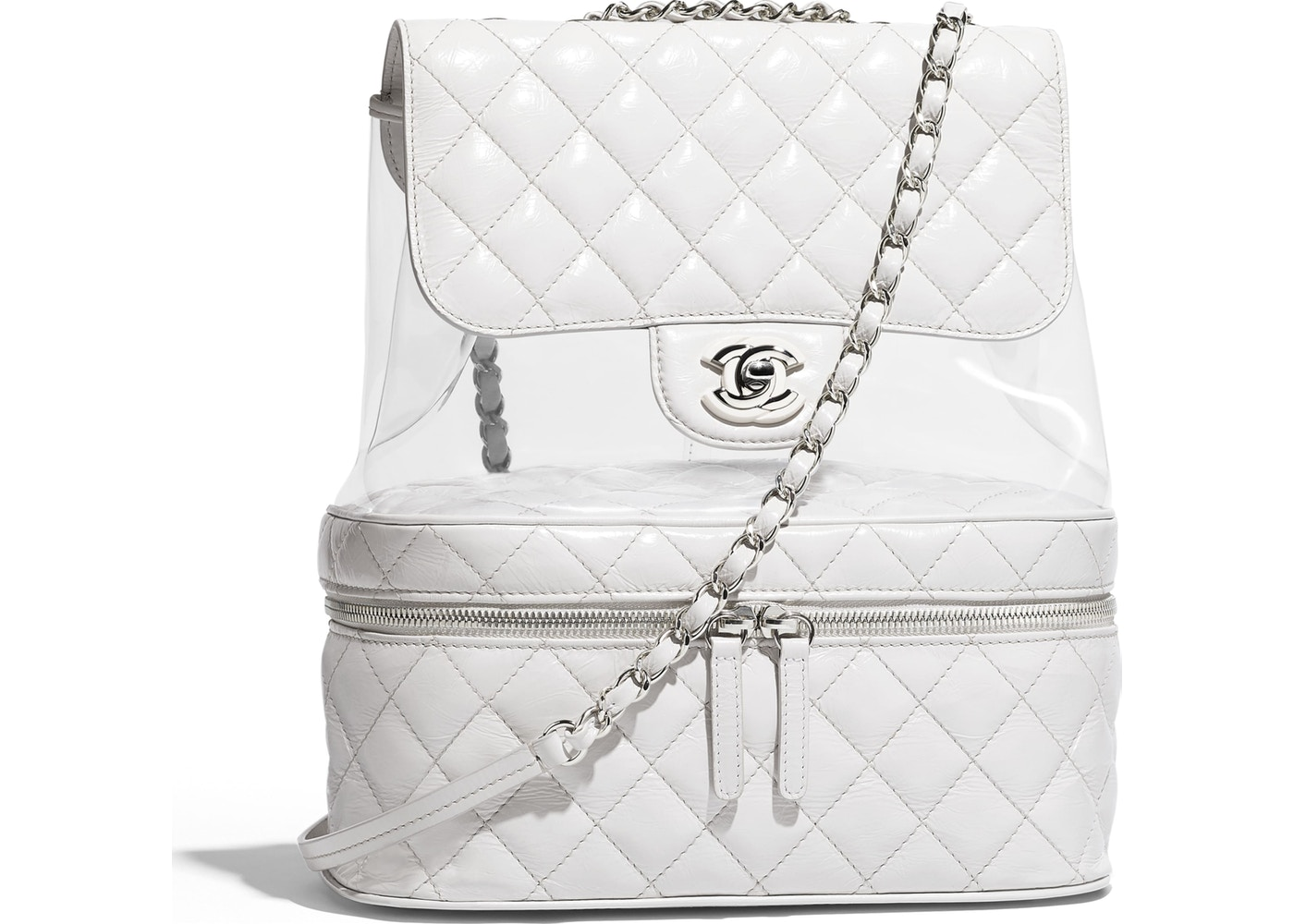 531791deca84 Chanel Flap Bag Transparent White. Transparent White