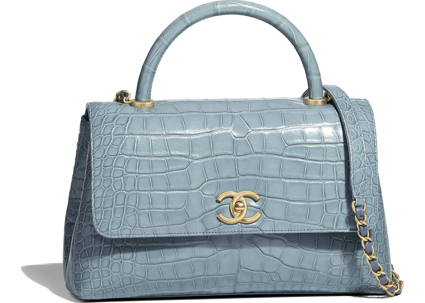 e6b256f35024 Chanel Flap Bag with Top Handle Blue. Blue