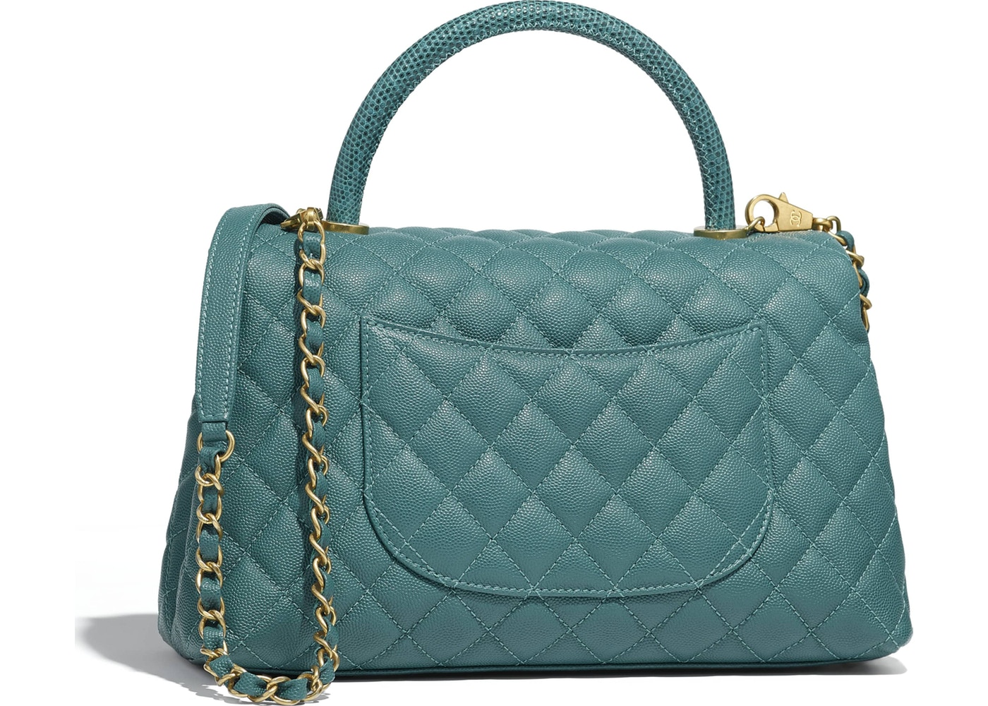5304e204510b Chanel Flap Bag with Top Handle Green