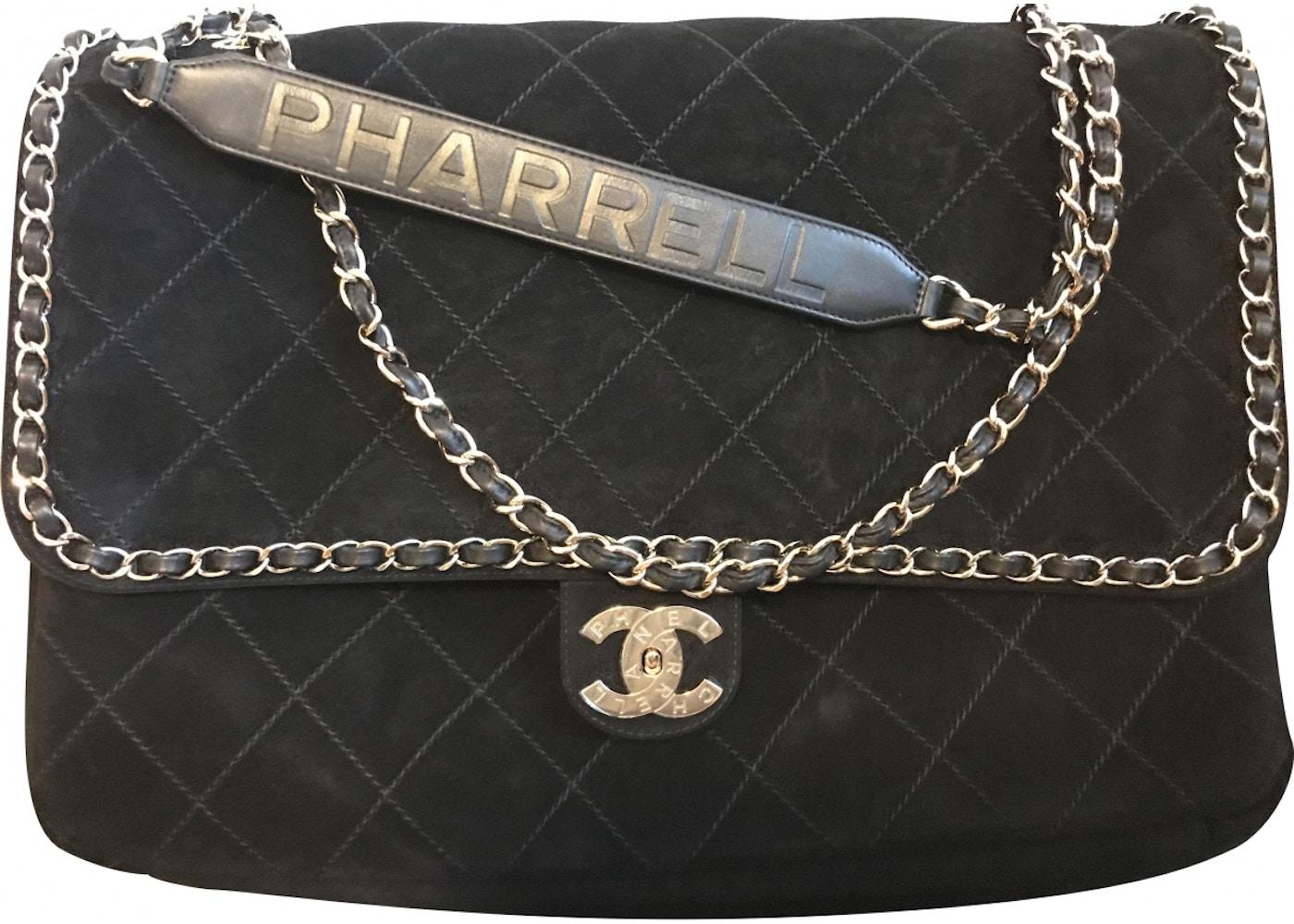 463c6d2a606a15 Chanel x Pharrell Flap Bag XXL Black. XXL Black