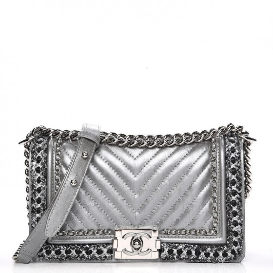 Chanel Chained Boy Flap Chevron Quilted Medium