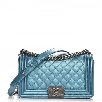 Chanel Boy Flap Diamond Quilted Medium Turquoise
