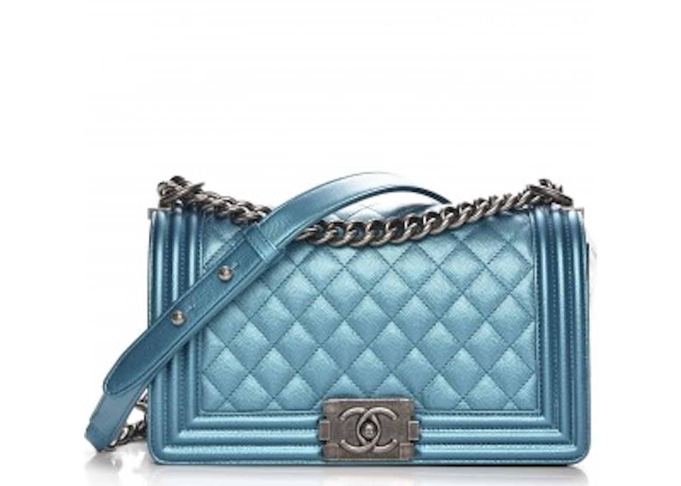 ad882bd905c471 Chanel Boy Flap Diamond Quilted Medium Turquoise. Diamond Quilted Medium  Turquoise
