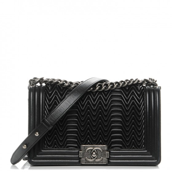 Chanel Boy Flap Pleated Medium Black