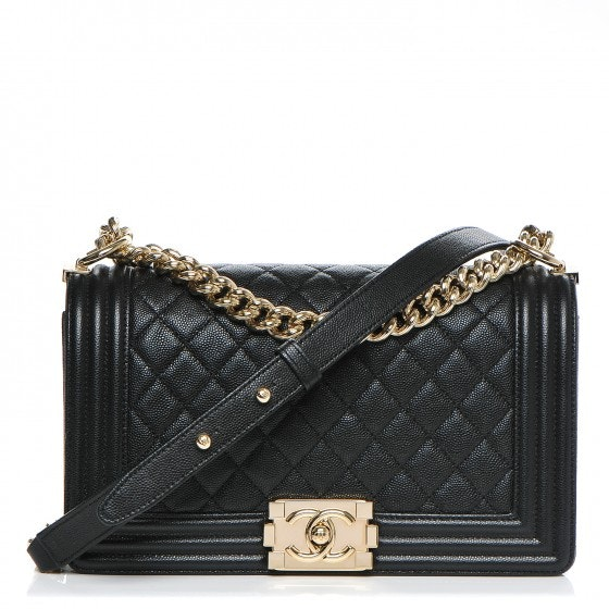 Chanel Boy Flap Diamond Quilted Medium Black