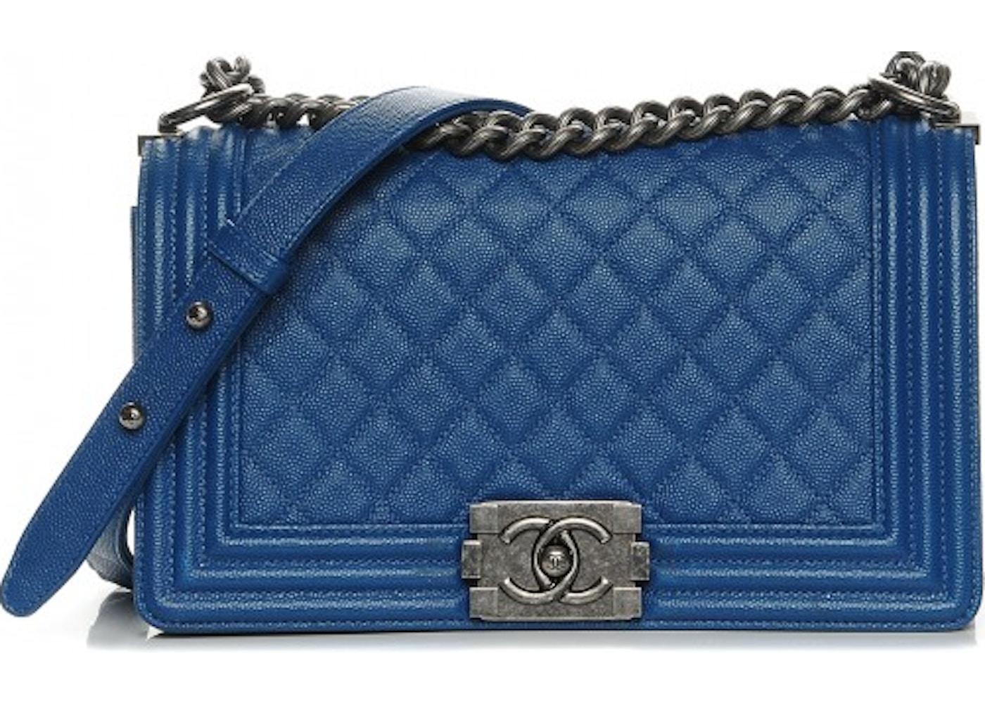f83c3de116d5 Chanel Boy Flap Diamond Quilted Medium Dark Blue