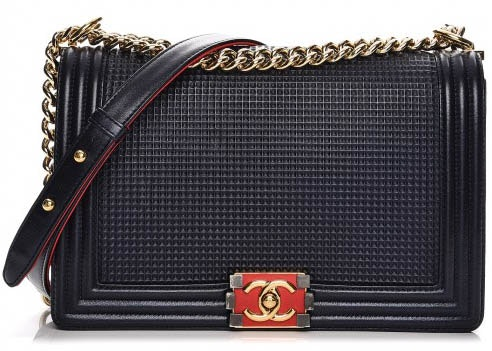 Chanel Boy Flap Cube Embossed New Medium