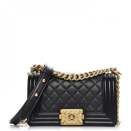 Chanel Boy Flap Diamond Quilted Small Black