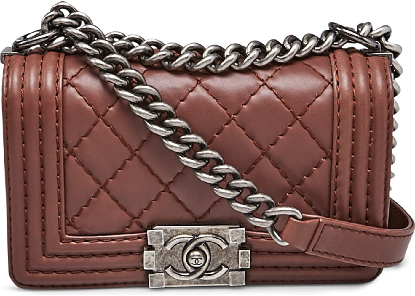 4c82c552001ffd Chanel Boy Flap Quilted Diamond Small Brown. Quilted Diamond Small Brown