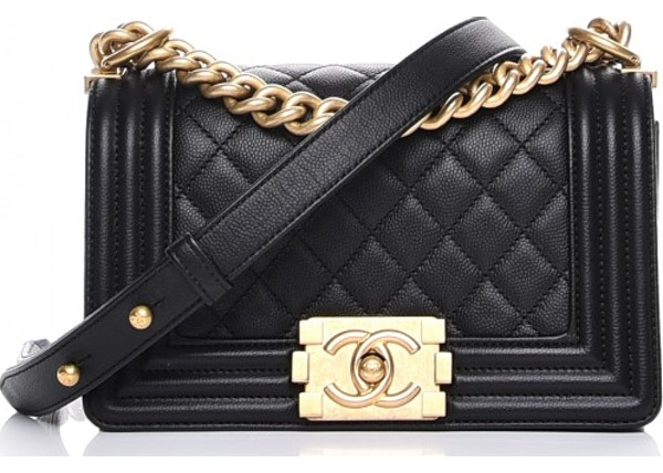 e2722c35b30023 Chanel Boy Flap Quilted Diamond Small Black