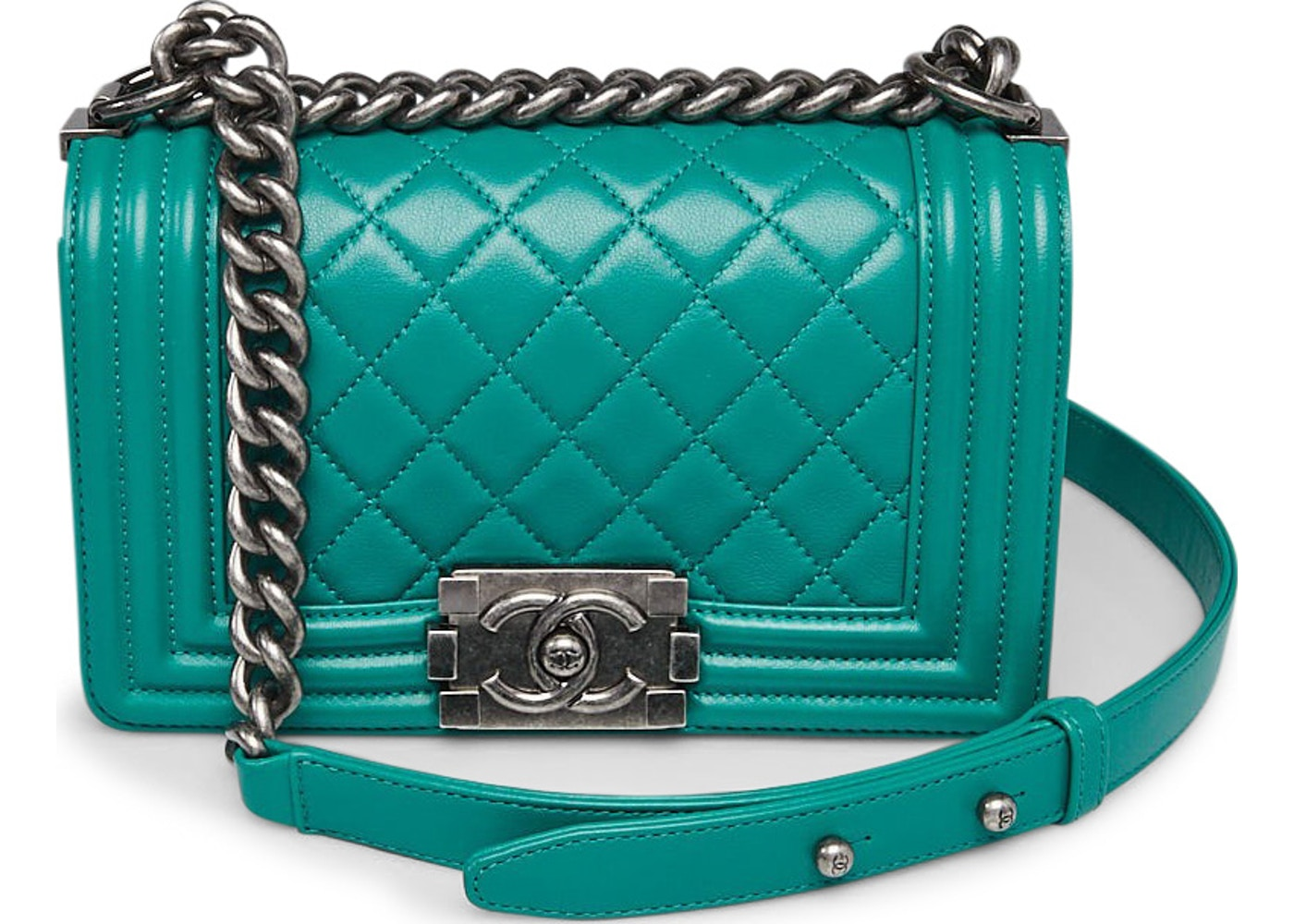 c44117c98ef13c Chanel Boy Flap Quilted Diamond Small Green. Quilted Diamond Small Green