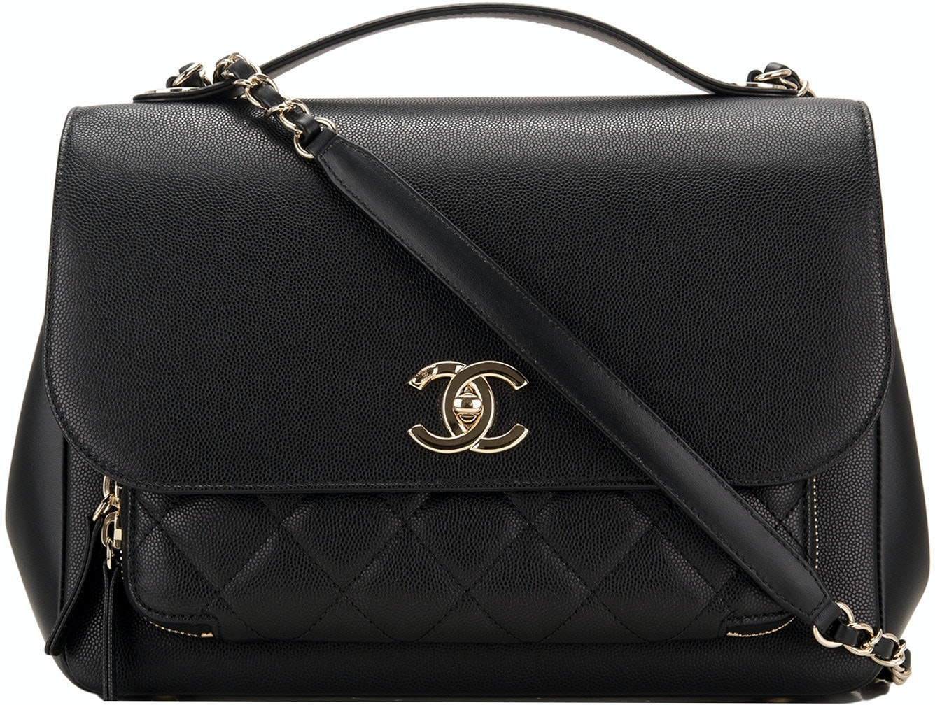 Chanel Business Affinity  Quilted Large Black