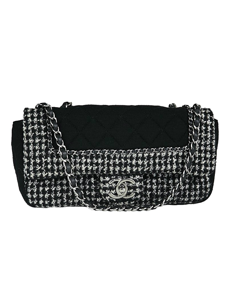 Chanel CC Chain Flap Diamond Quilted Black/Grey