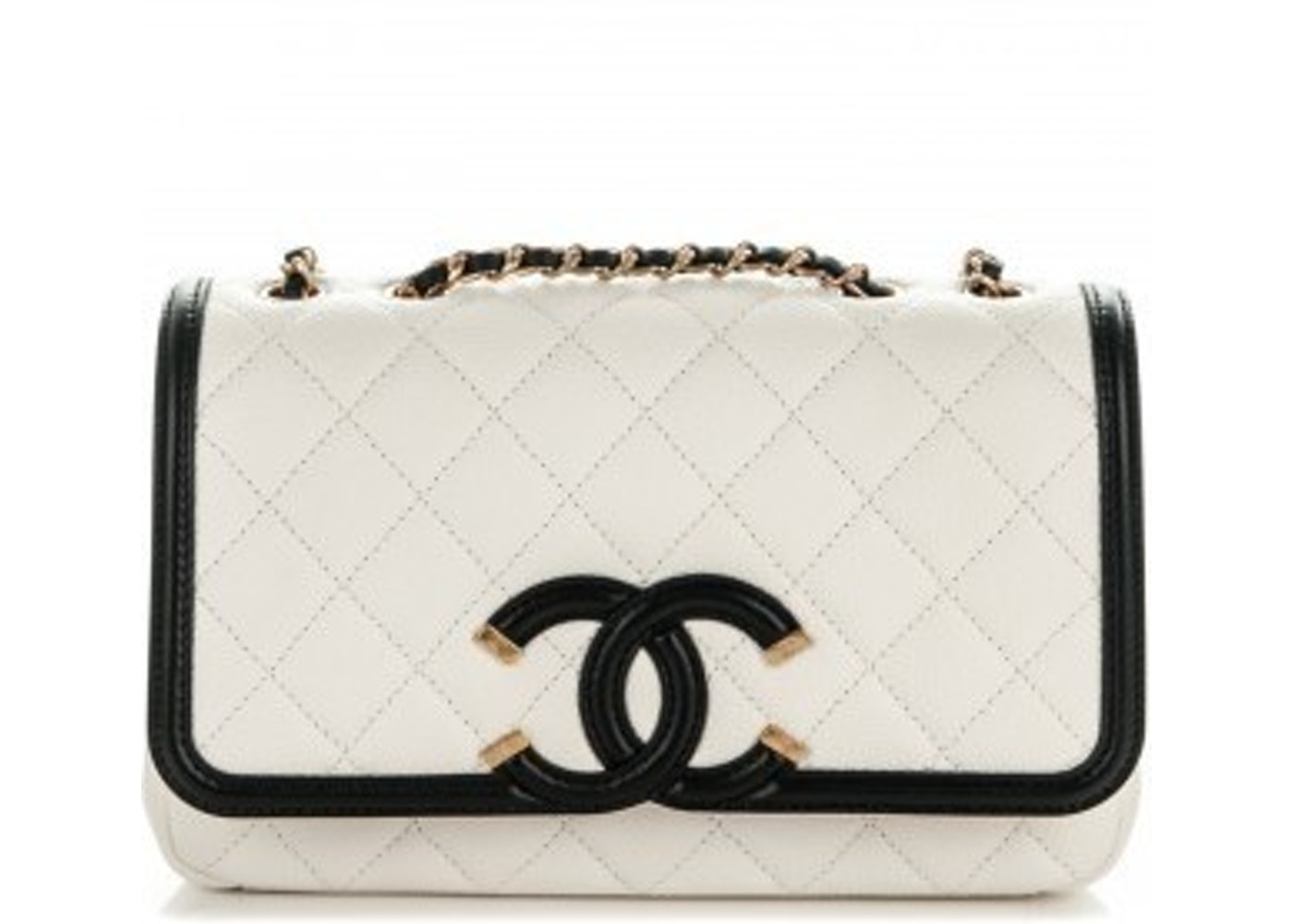 72e3a16f433a Sell. or Ask. View All Bids. Chanel Filigree CC Quilted Small White/Black